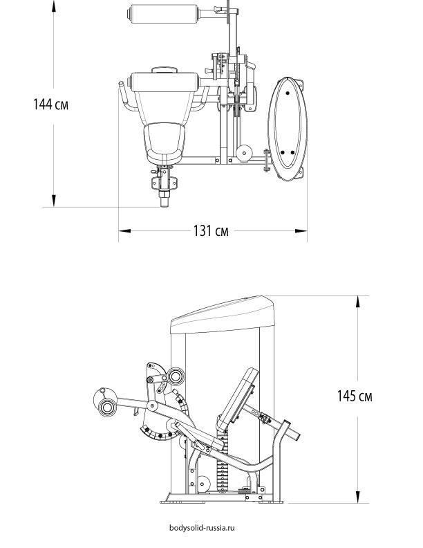 Схема тренажера для ног 687